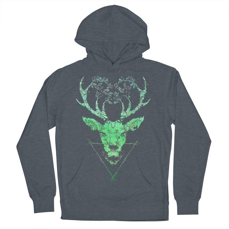 Dark Forest Deer Men's Pullover Hoody by Sitchko