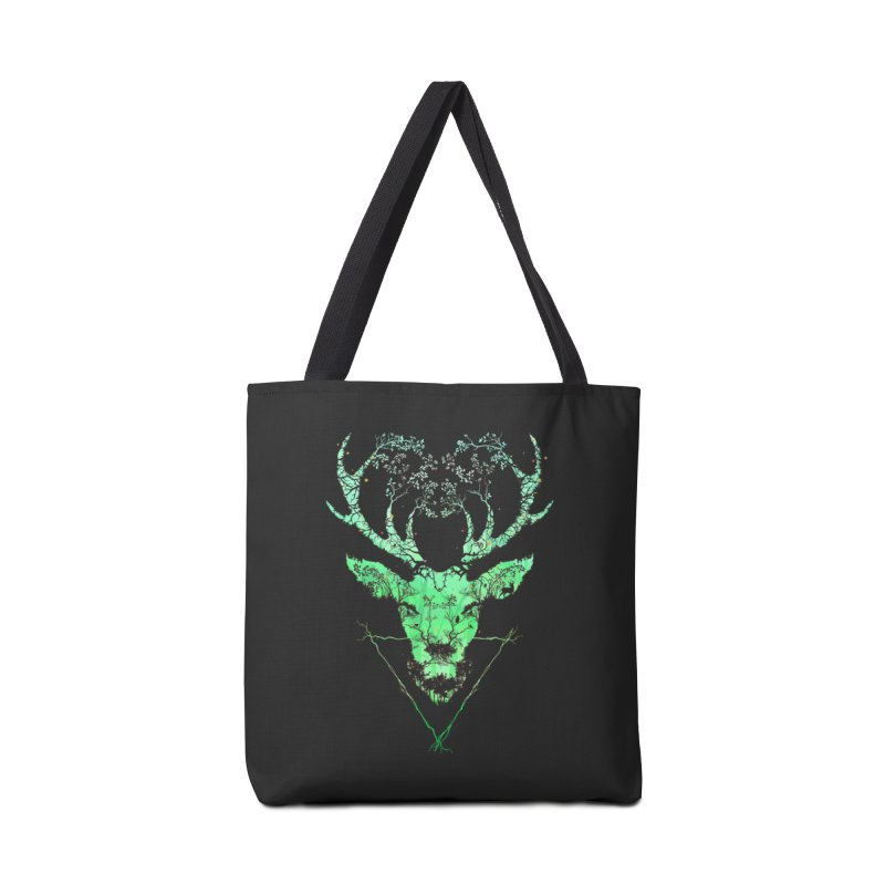 Dark Forest Deer Accessories Bag by Sitchko