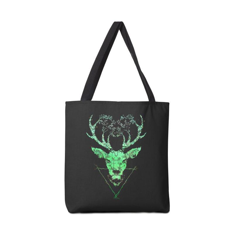 Dark Forest Deer Accessories Bag by Sitchko