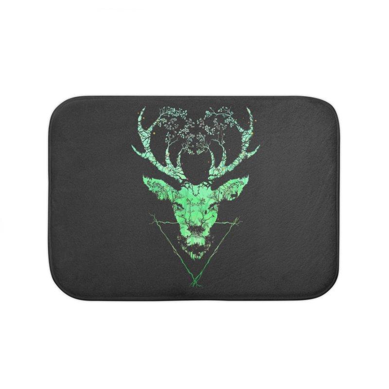Dark Forest Deer Home Bath Mat by Sitchko