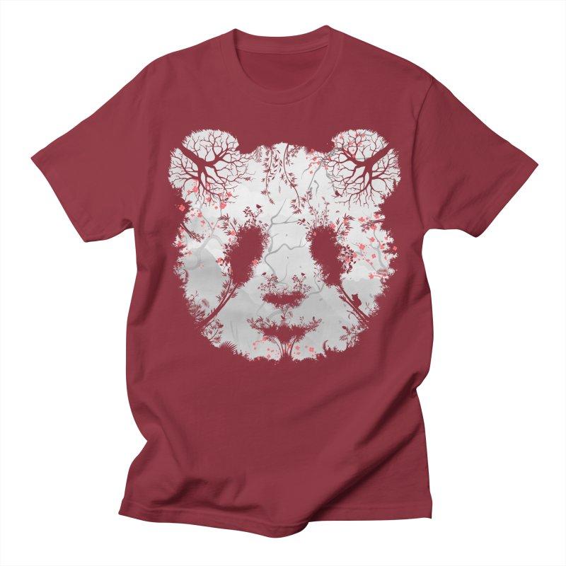 Dark Forest Panda Women's Regular Unisex T-Shirt by Sitchko