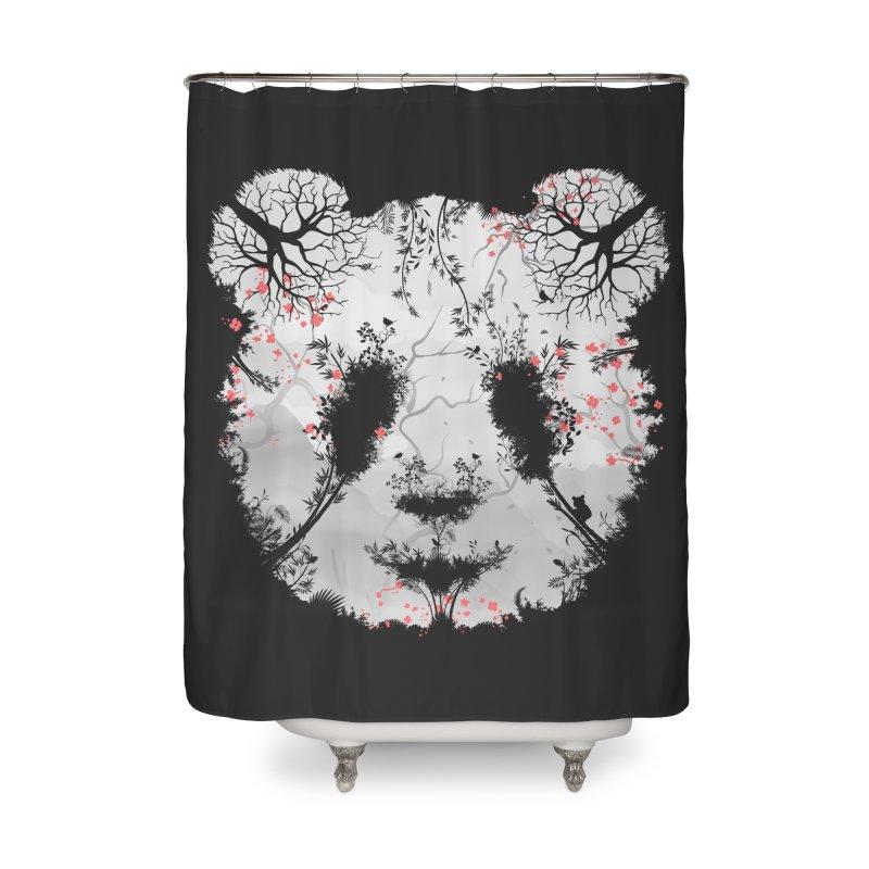 Dark Forest Panda Home Shower Curtain by Sitchko