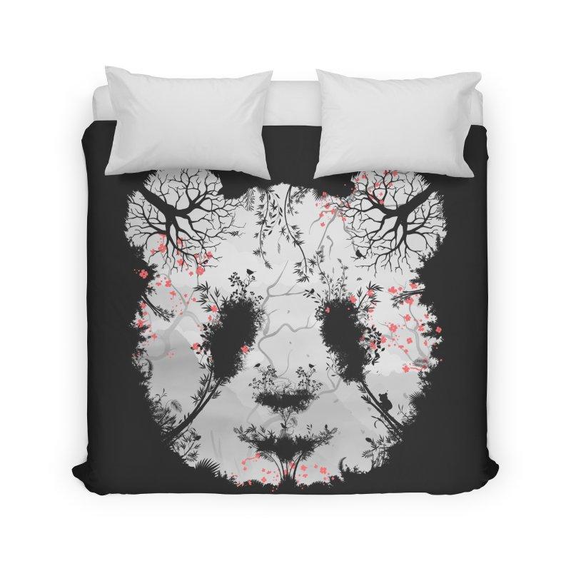 Dark Forest Panda Home Duvet by Sitchko