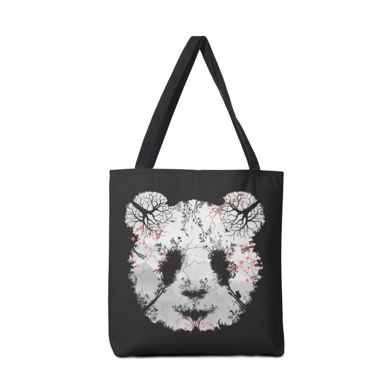 Dark Forest Panda Accessories Bag by Sitchko