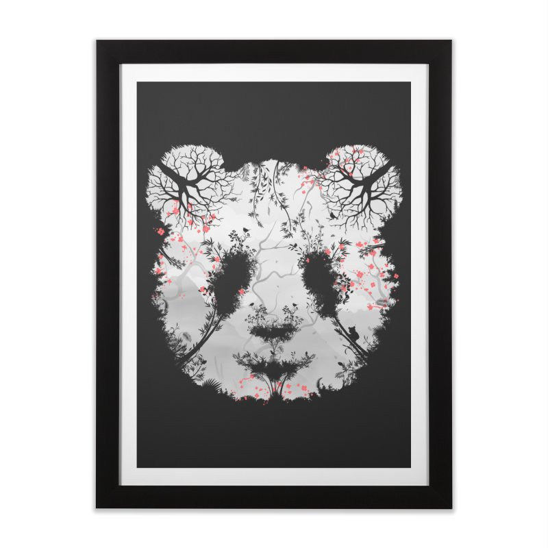 Dark Forest Panda Home Framed Fine Art Print by Sitchko