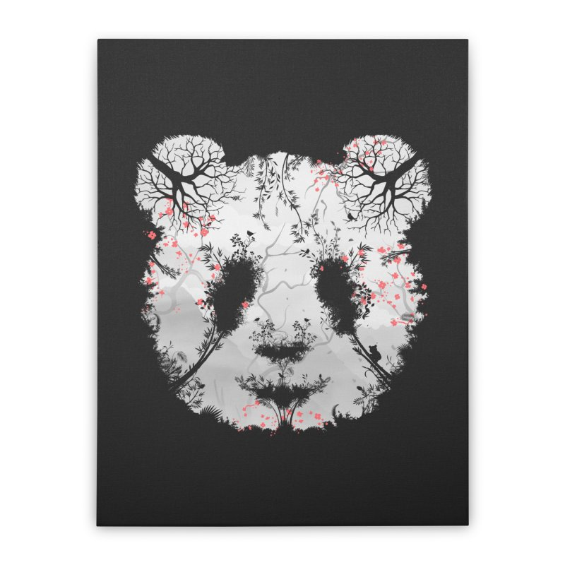 Dark Forest Panda Home Stretched Canvas by Sitchko