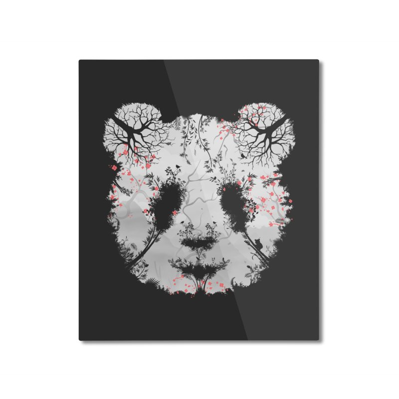 Dark Forest Panda Home Mounted Aluminum Print by Sitchko