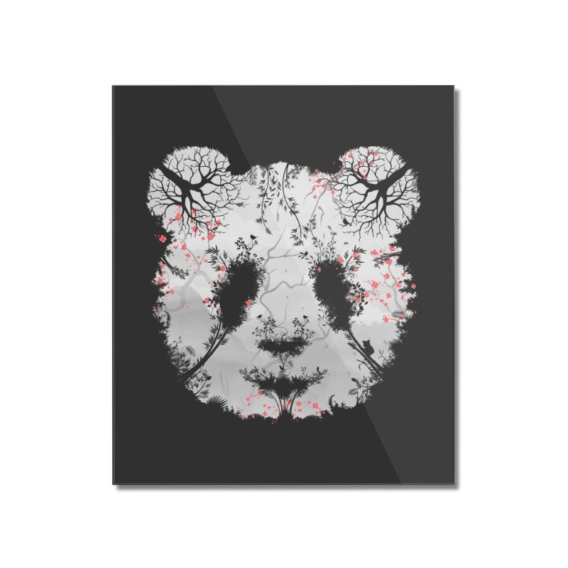 Dark Forest Panda Home Mounted Acrylic Print by Sitchko