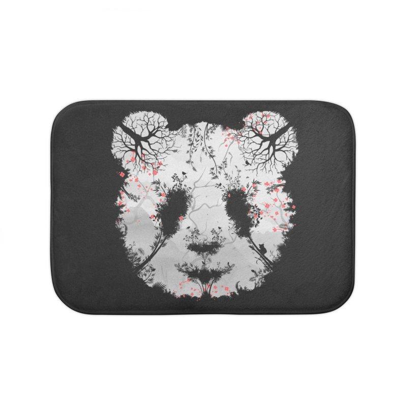 Dark Forest Panda Home Bath Mat by Sitchko