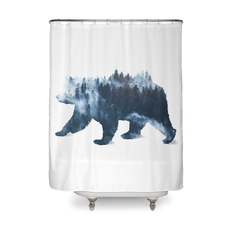 Nature Bear Home Shower Curtain by Sitchko