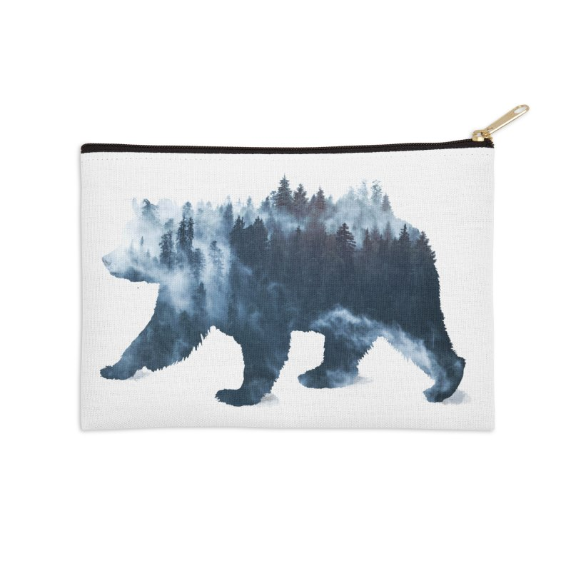 Nature Bear Accessories Zip Pouch by Sitchko
