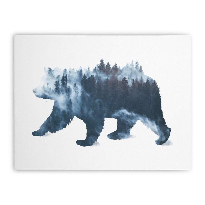 Nature Bear Home Stretched Canvas by Sitchko