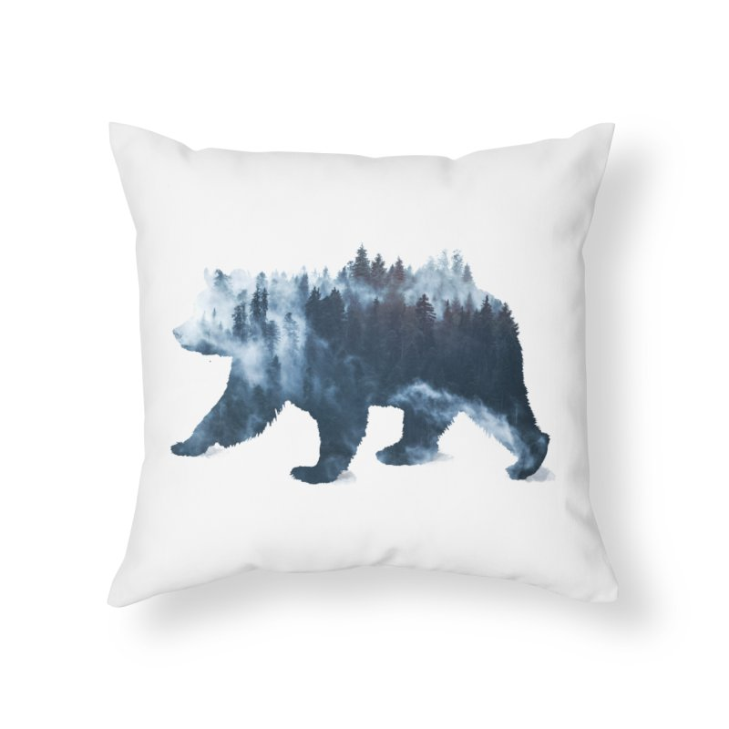 Nature Bear Home Throw Pillow by Sitchko