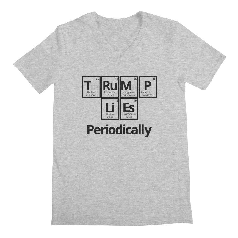 Trump Lies... Periodically Men's Regular V-Neck by Sixfold Symmetry Shop