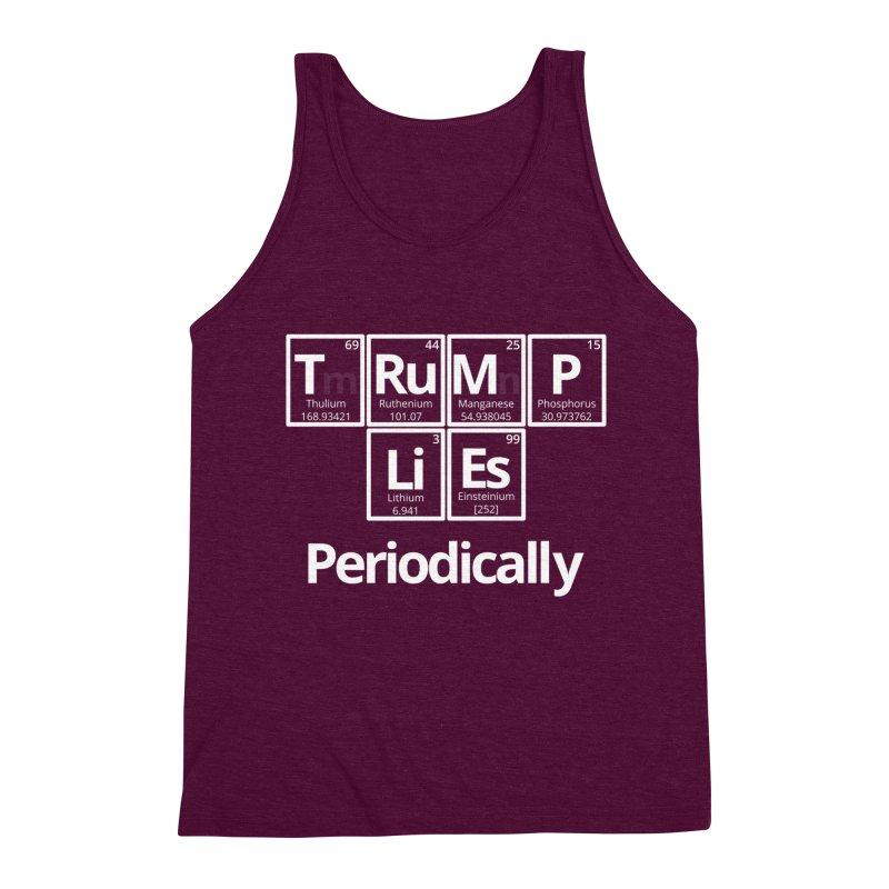 Trump Lies... Periodically Men's Triblend Tank by Sixfold Symmetry Shop