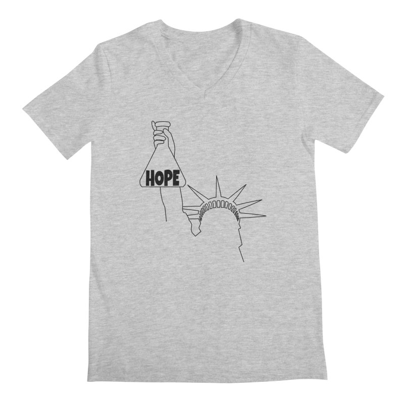 I am a Beaker of Hope Men's Regular V-Neck by Sixfold Symmetry Shop