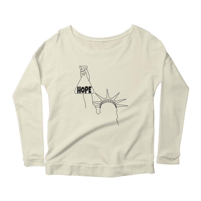 I am a Beaker of Hope Women's Scoop Neck Longsleeve T-Shirt by Sixfold Symmetry Shop