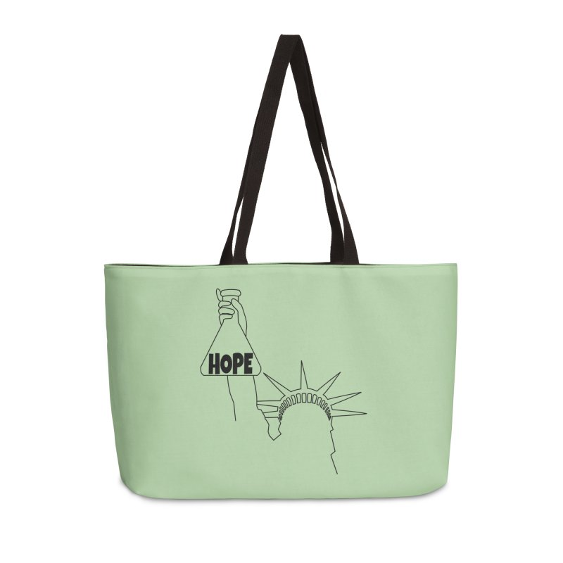 I am a Beaker of Hope Accessories Weekender Bag Bag by Sixfold Symmetry Shop