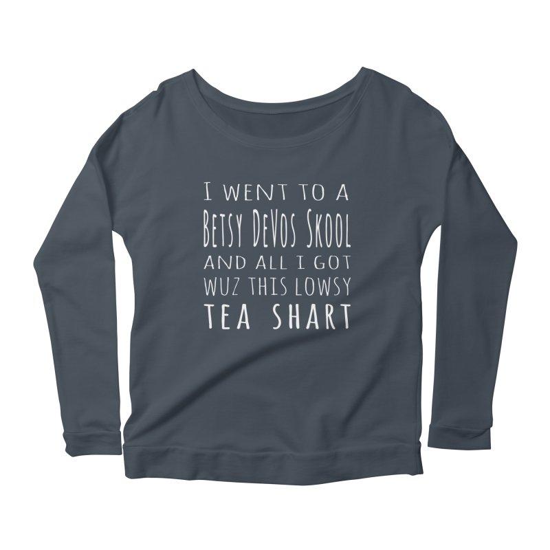 My New Tea Shart Women's Scoop Neck Longsleeve T-Shirt by Sixfold Symmetry Shop