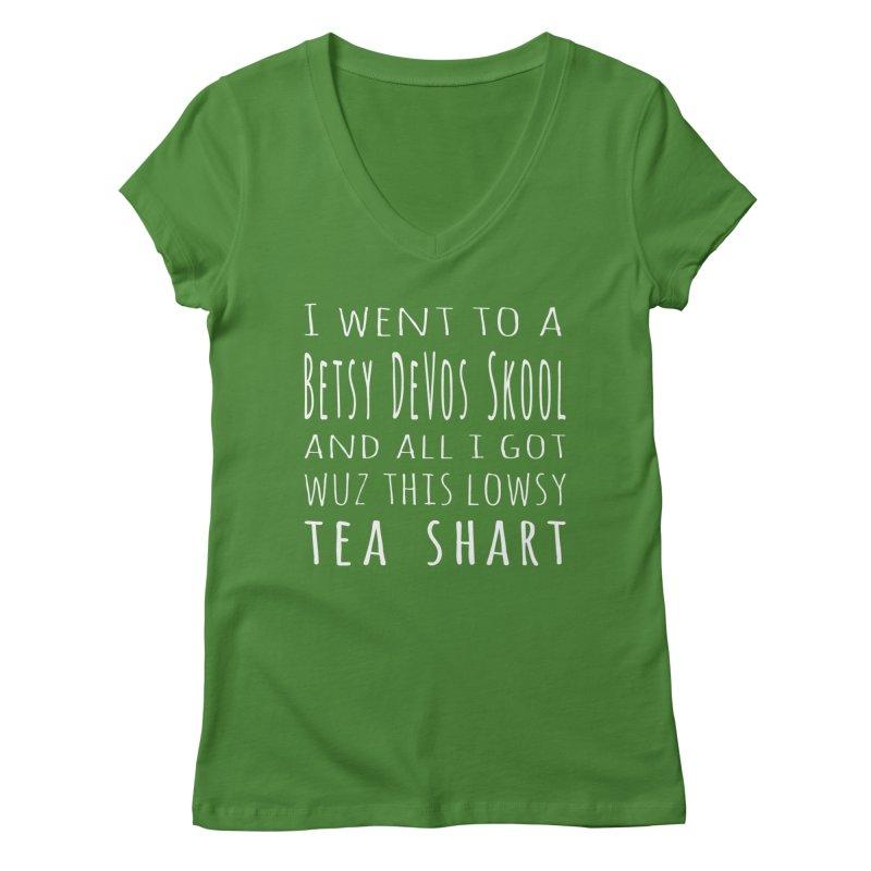 My New Tea Shart Women's Regular V-Neck by Sixfold Symmetry Shop