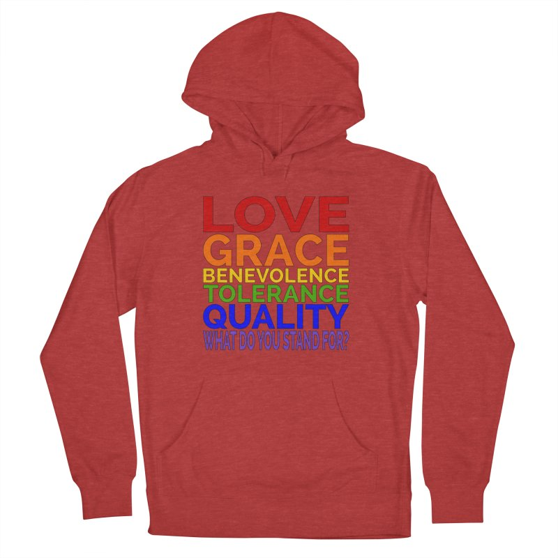 What Do You Stand For? Women's French Terry Pullover Hoody by Sixfold Symmetry Shop