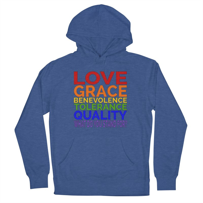 What Do You Stand For? Men's French Terry Pullover Hoody by Sixfold Symmetry Shop