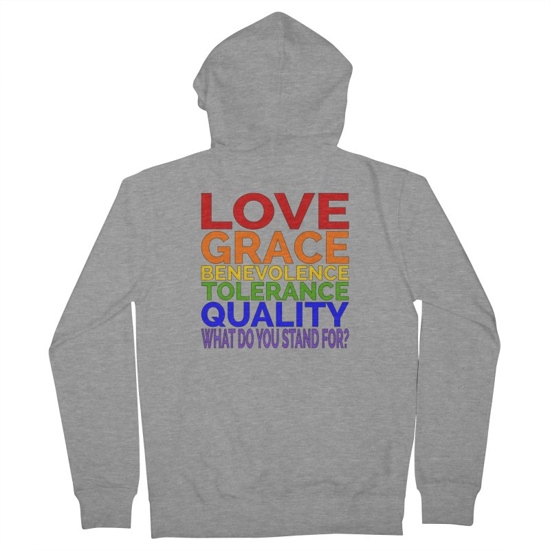 What Do You Stand For? Women's French Terry Zip-Up Hoody by Sixfold Symmetry Shop