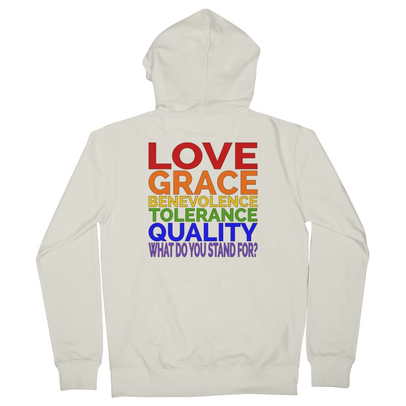 What Do You Stand For? Men's French Terry Zip-Up Hoody by Sixfold Symmetry Shop