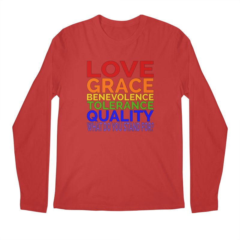 What Do You Stand For? Men's Regular Longsleeve T-Shirt by Sixfold Symmetry Shop