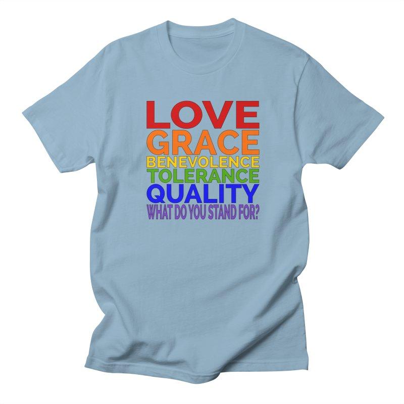 What Do You Stand For? Women's Regular Unisex T-Shirt by Sixfold Symmetry Shop