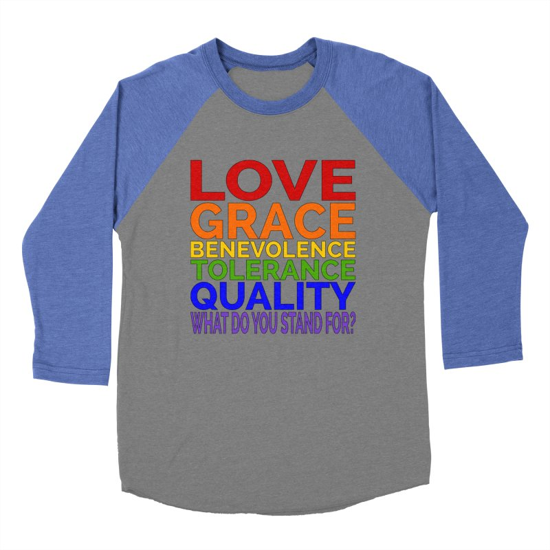 What Do You Stand For? Women's Baseball Triblend Longsleeve T-Shirt by Sixfold Symmetry Shop