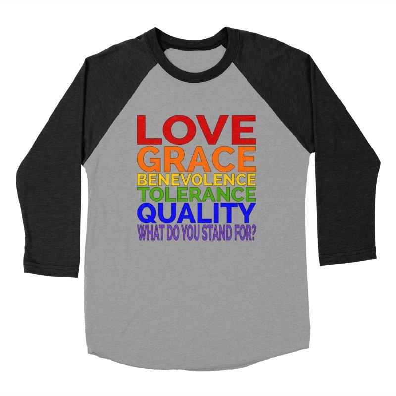 What Do You Stand For? Men's Baseball Triblend Longsleeve T-Shirt by Sixfold Symmetry Shop