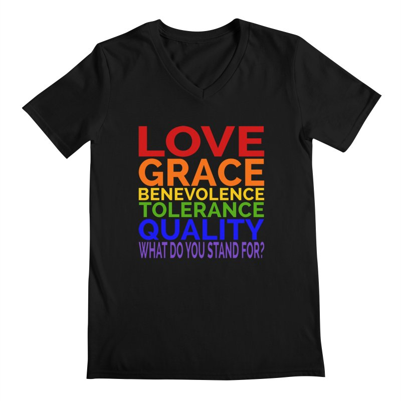 What Do You Stand For? Men's Regular V-Neck by Sixfold Symmetry Shop