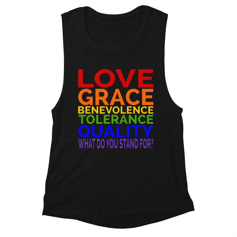 What Do You Stand For? Women's Tank by Sixfold Symmetry Shop