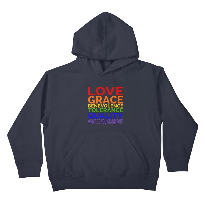 What Do You Stand For? Kids Pullover Hoody by Sixfold Symmetry Shop