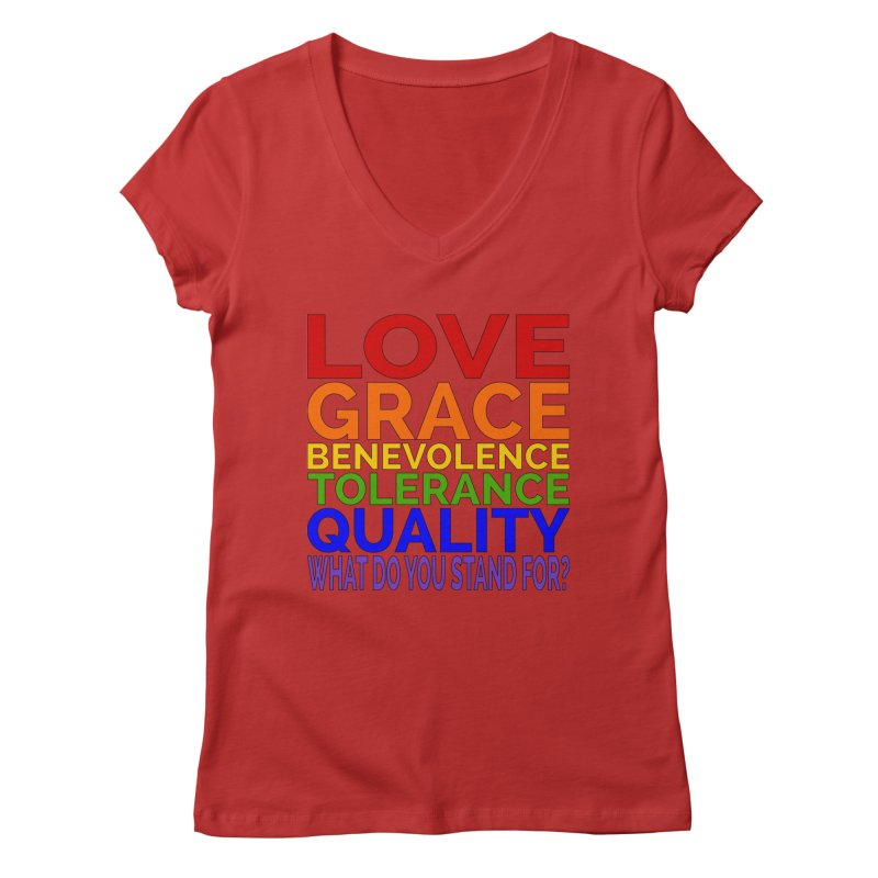 What Do You Stand For? Women's Regular V-Neck by Sixfold Symmetry Shop