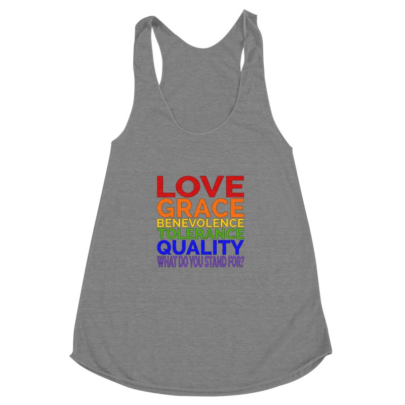 What Do You Stand For? Women's Racerback Triblend Tank by Sixfold Symmetry Shop