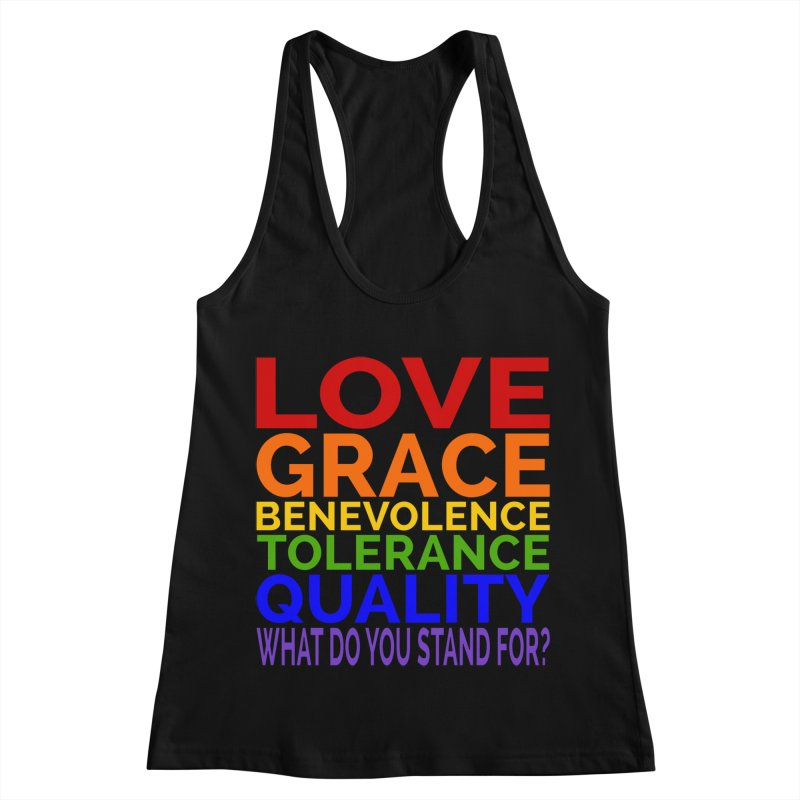 What Do You Stand For? Women's Racerback Tank by Sixfold Symmetry Shop
