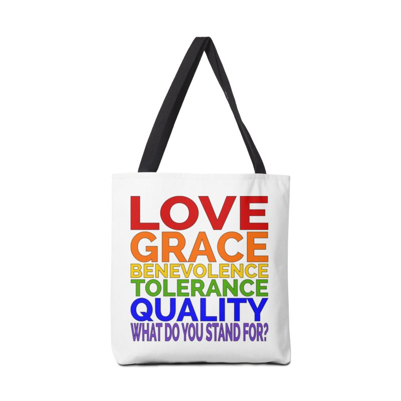 What Do You Stand For? Accessories Bag by Sixfold Symmetry Shop
