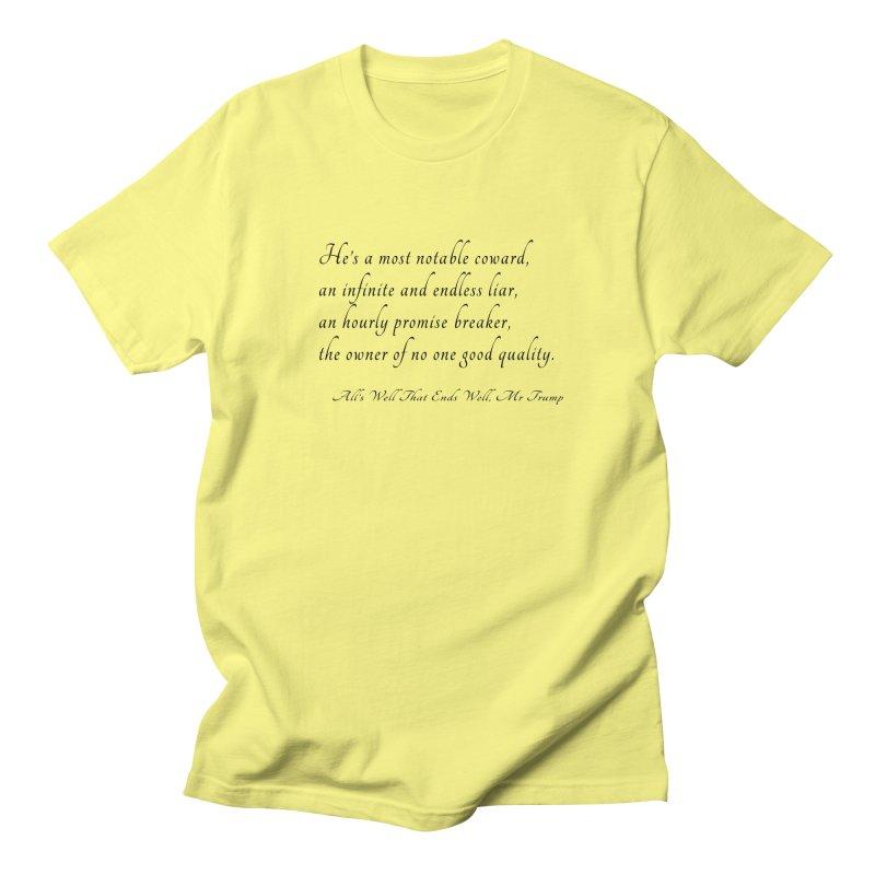 Shakespeare Saw Trump Coming Men's T-Shirt by Sixfold Symmetry Shop