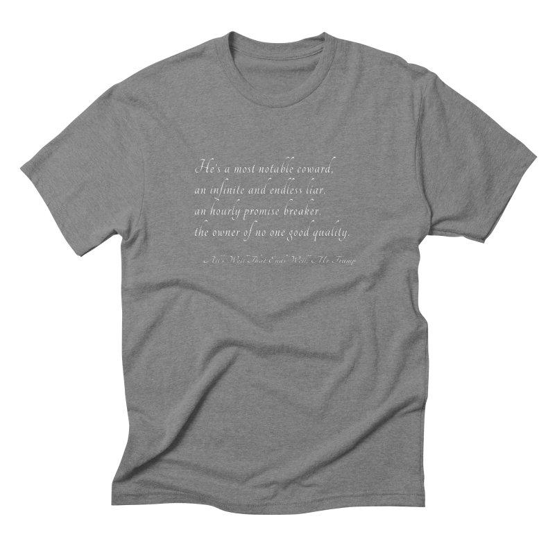 Shakespeare Saw Trump Coming Men's Triblend T-Shirt by Sixfold Symmetry Shop