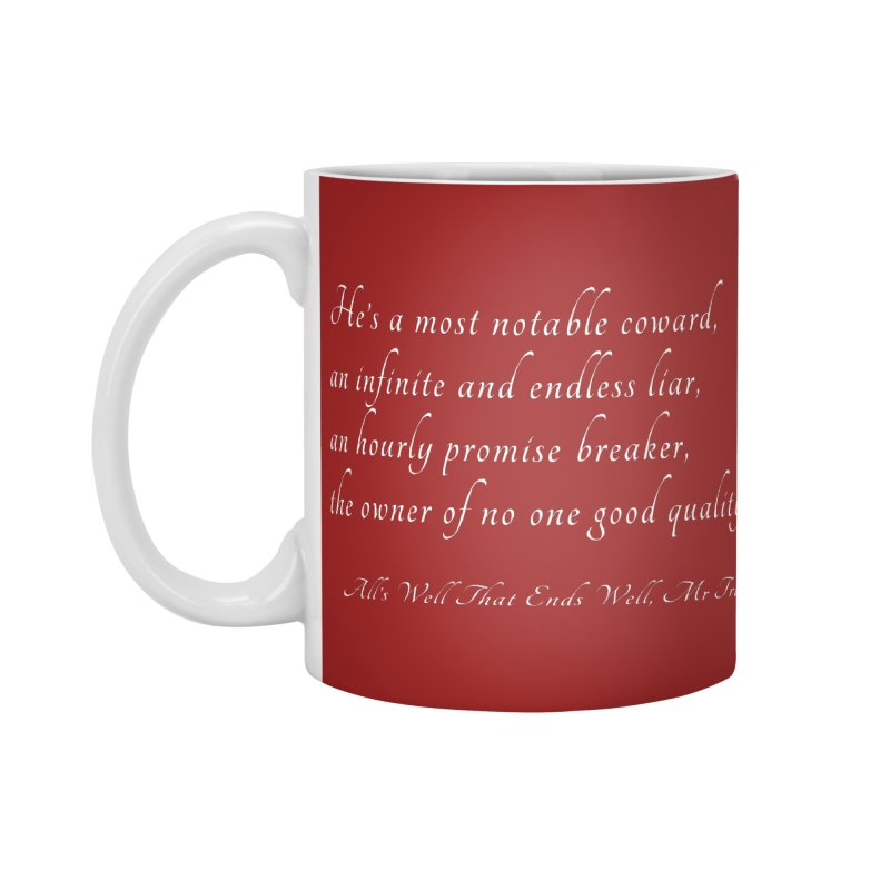 Shakespeare Saw Trump Coming Accessories Mug by Sixfold Symmetry Shop