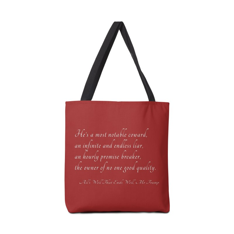 Shakespeare Saw Trump Coming Accessories Tote Bag Bag by Sixfold Symmetry Shop