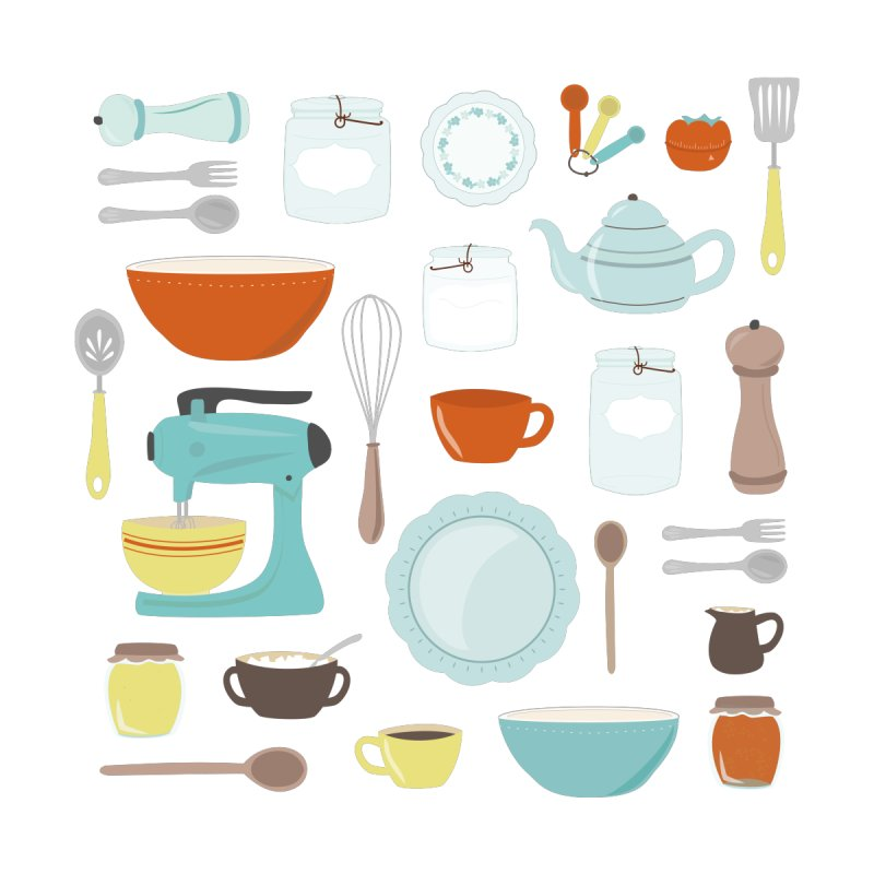 My Vintage Kitchen by Calobee Doodles