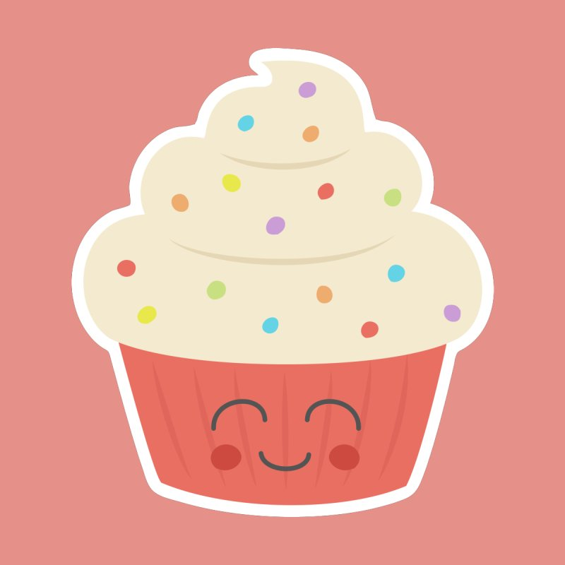 Happy Cupcake by Calobee Doodles