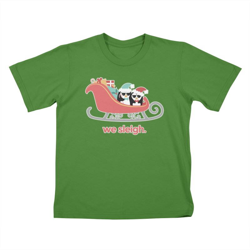 We Sleigh. Kids T-Shirt by Calobee Doodles