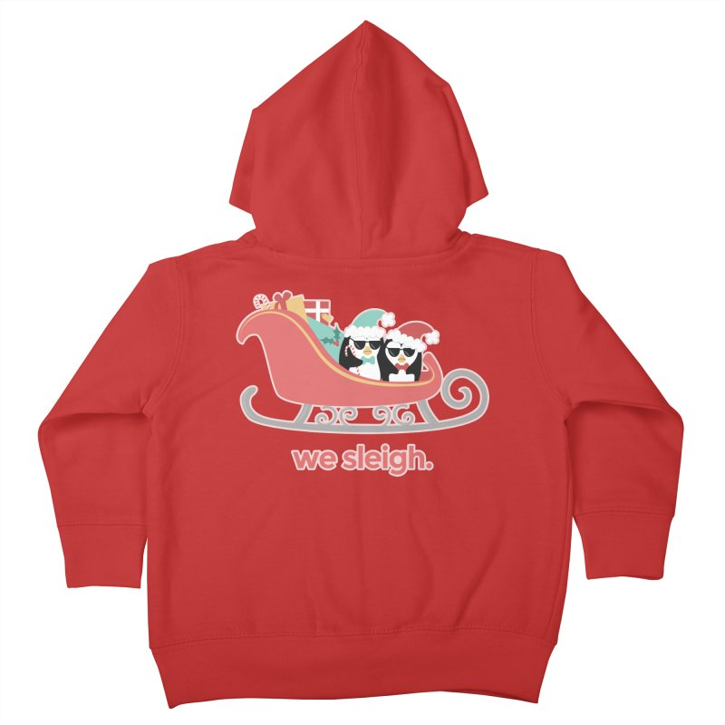 We Sleigh. Kids Toddler Zip-Up Hoody by Calobee Doodles