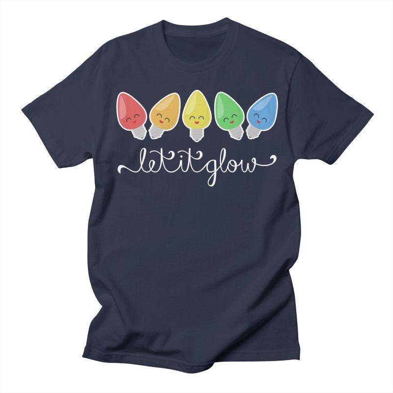 Let It Glow Men's T-Shirt by Calobee Doodles