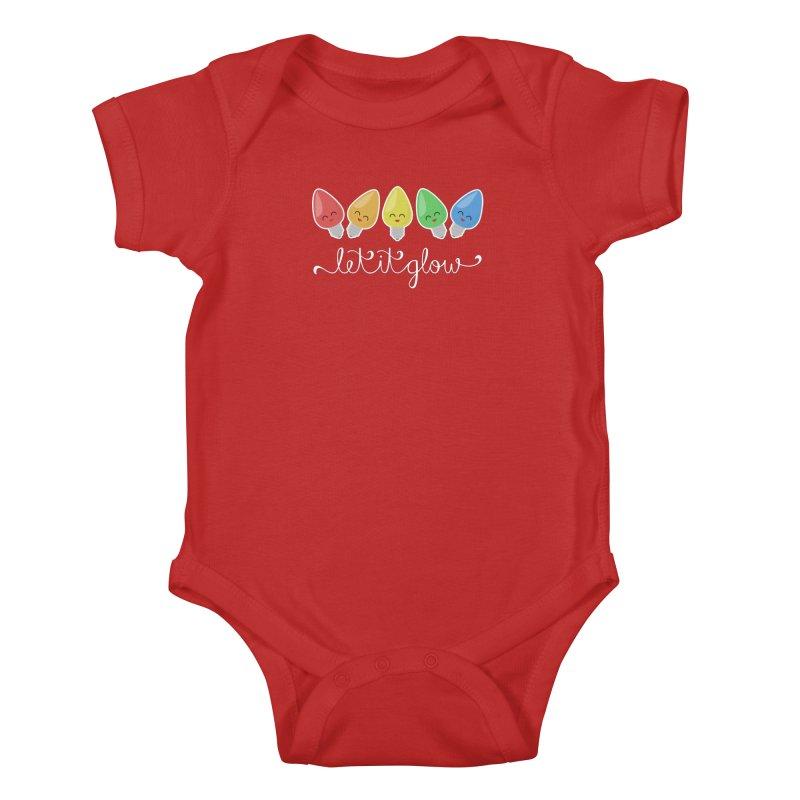 Let It Glow Kids Baby Bodysuit by Calobee Doodles