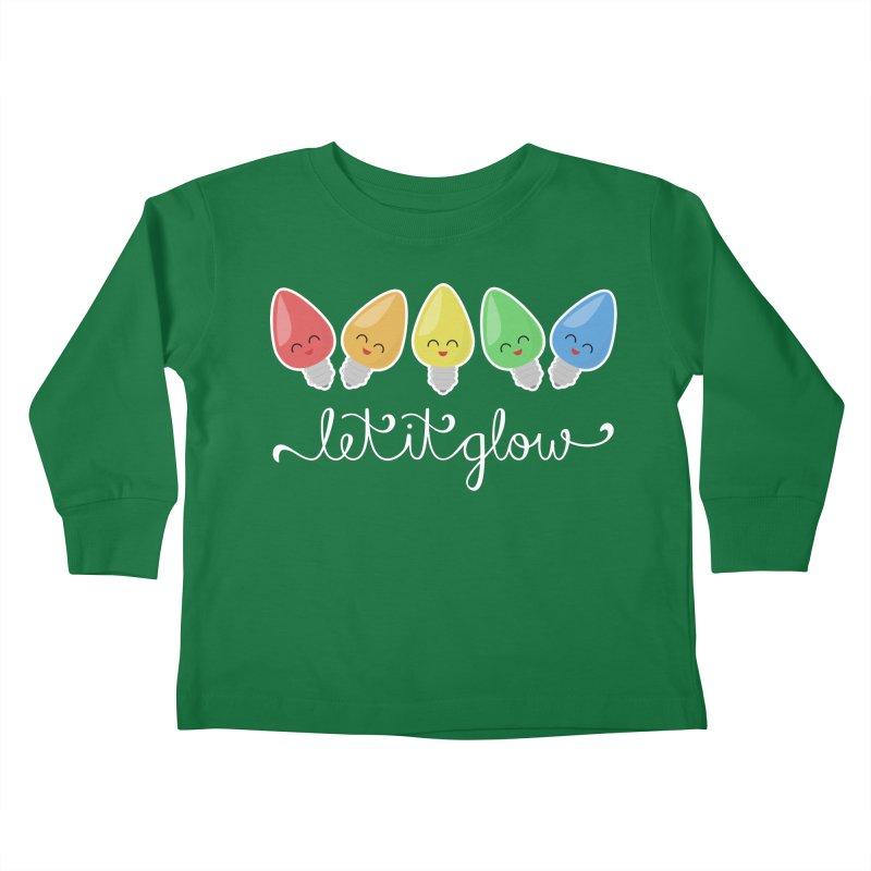 Let It Glow Kids Toddler Longsleeve T-Shirt by Calobee Doodles